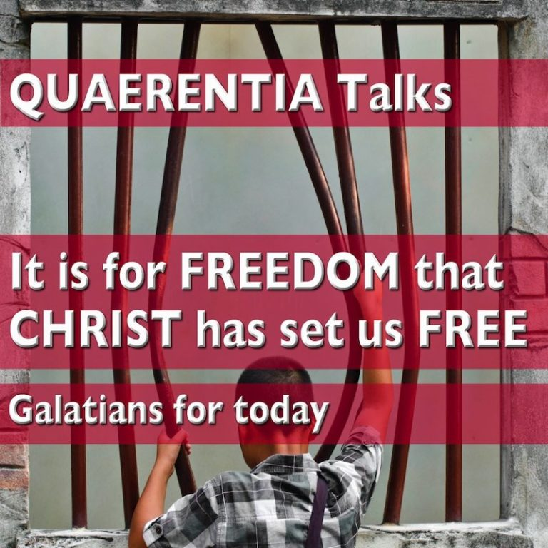 Rejoicing in Galatian Freedom (an interruption to self-imposed online taciturnity)