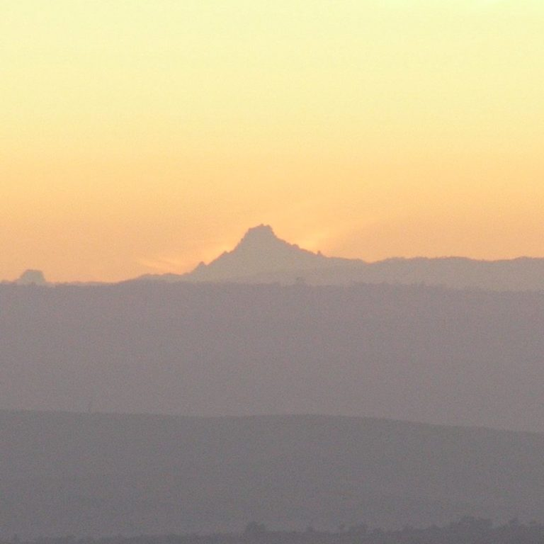 We saw a great light in the east (over Mt Kenya)