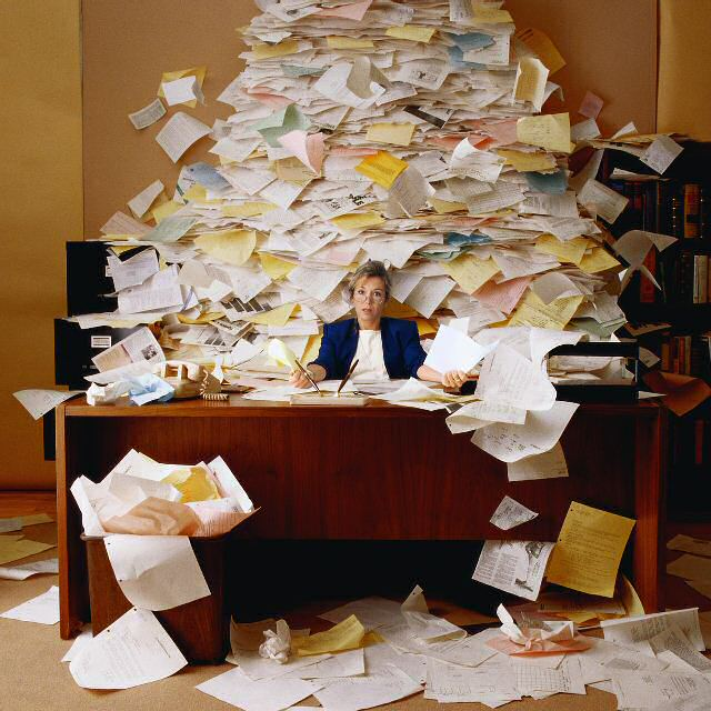 Friday Fun 8: For all completing tax returns: DESK DUTY by Hugo Williams
