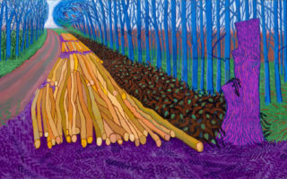 Q Combinations 8: Robert Frost & David Hockney at the Road's Fork