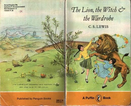 Pauline Baynes Narnia cover - Lion Witch Wardrobe