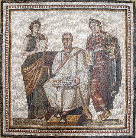Virgil in the Bardo museum, Tunis